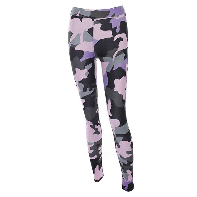 Women Hight Waist Pants Fitness Leggings Stretch Camouflage - Rosemary's Fitness Store