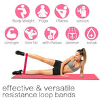 Yoga Bands Resistance Rubber Bands Indoor Outdoor Fitness Equipment 0.35mm-1.1mm Pilates Sport Training Workout Elastic