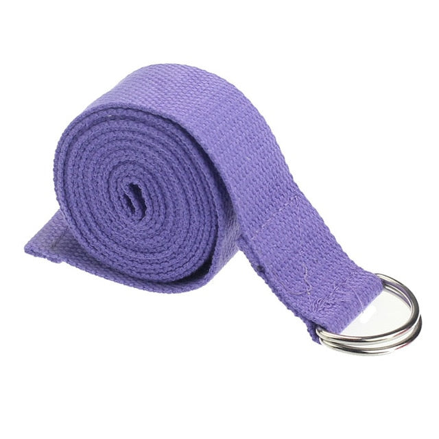 Yoga Stretch Strap D-Ring Belt Waist Leg Fitness - Rosemary's Fitness Store