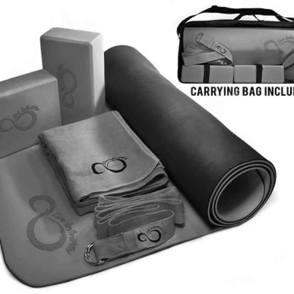 COMPLETE 6 PIECE YOGA SET & CARRYING CASE - Rosemary's Fitness Store