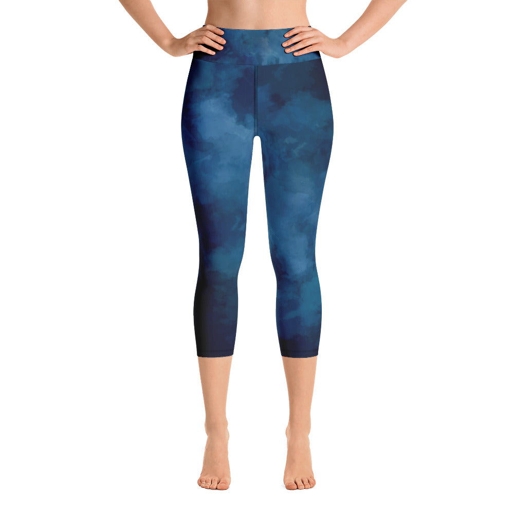 Dark blue  Yoga Capri Leggings | Yoga Leggings | Pants | Dark blue Leggings