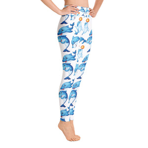 Dolphin  Yoga Leggings - Rosemary's Fitness Store