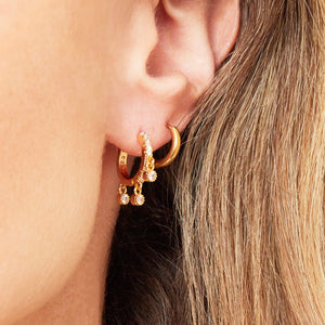Ohrringe 'Tiny Hoops Mini' | Gold