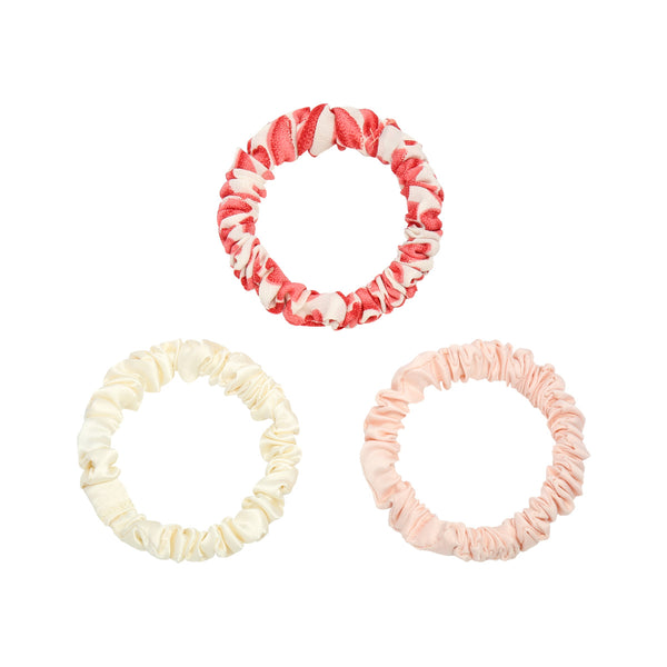 Mini-Scrunchie Set 'Lea' | Summer Pink