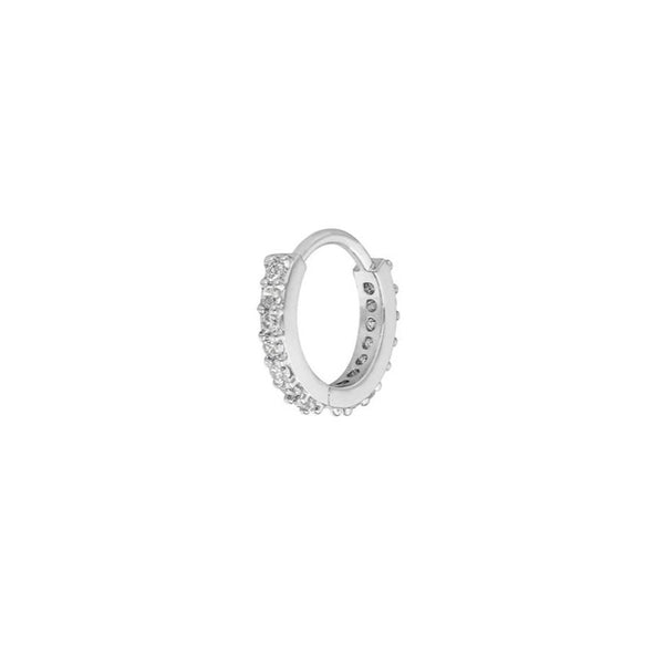Ohrring 'Circle Midi' | Silber