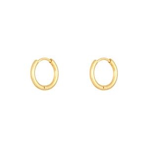 Ohrringe 'Tiny Hoops Midi' | Gold