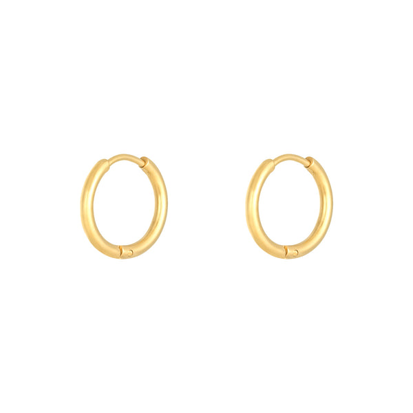 Ohrringe 'Tiny Hoops Maxi' | Gold