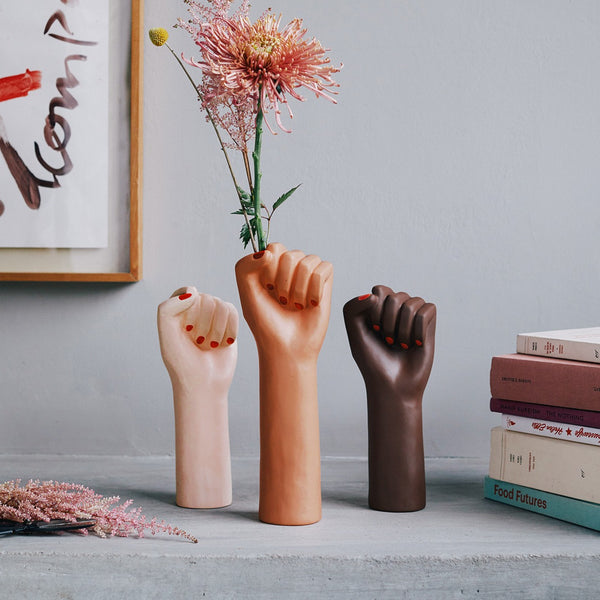 Vase 'Girl Power Big' | Brown