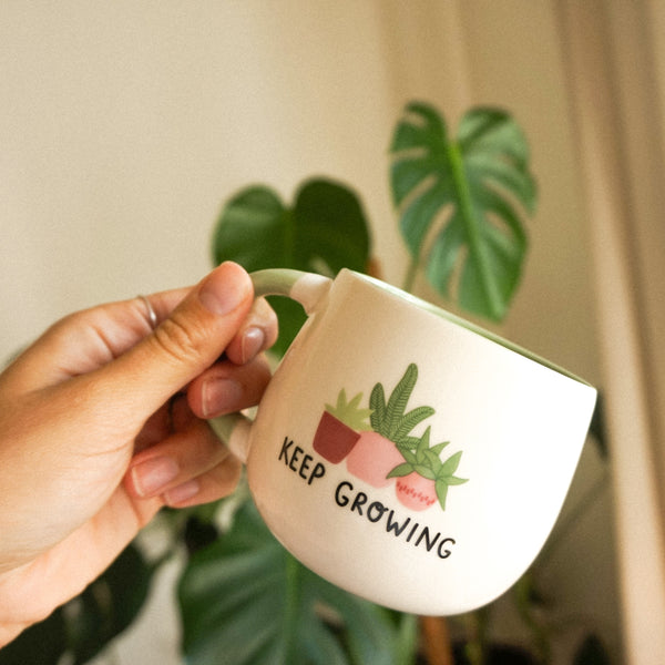 Tasse 'Keep Growing' | Grün