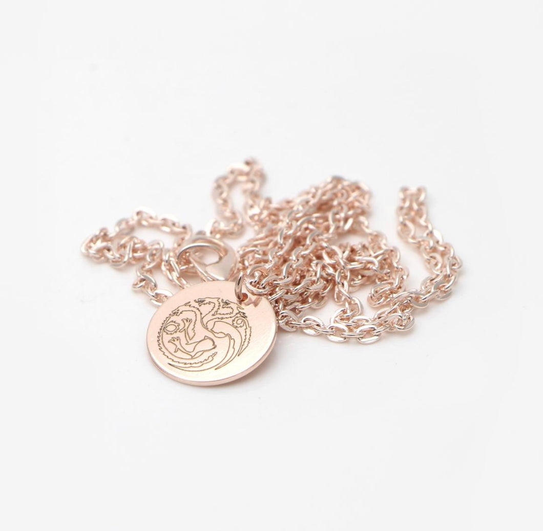 Rose Gold Targaryen Necklace