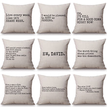 Load image into Gallery viewer, EW DAVID PILLOW CASE