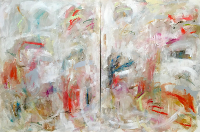 Ribbons Diptych 2) 30 x 48