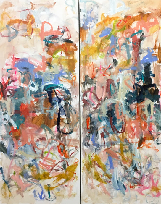 High Line Diptych 2) 24 x 60
