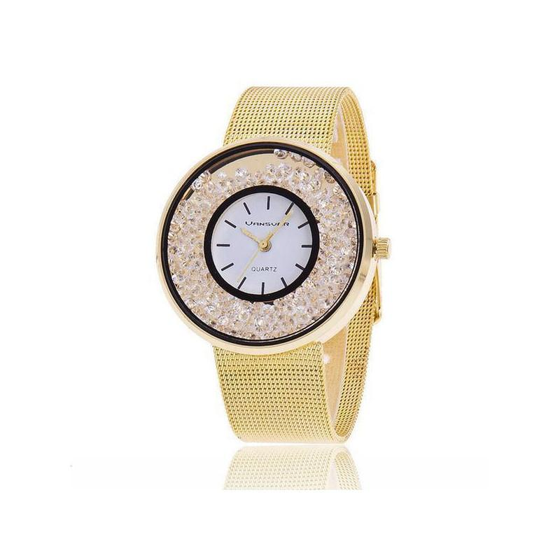Montre fashion diamants femme