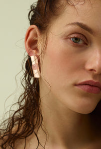 FLOWER Earring, rose gold & quartz