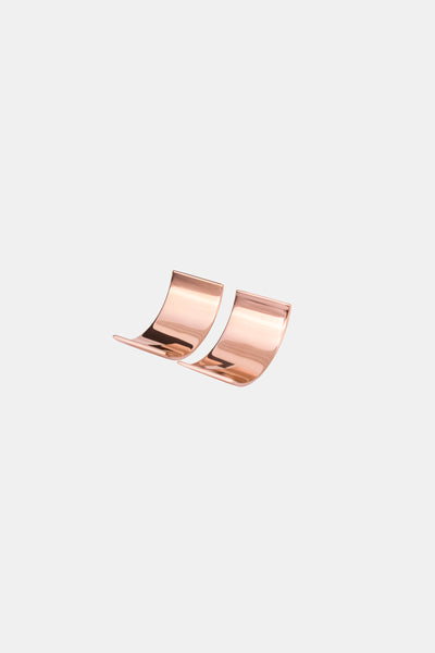 Rose gold plated statement earrings made in Germany