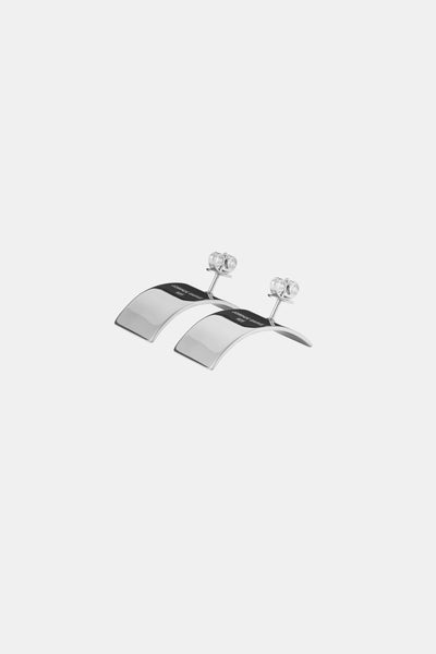 COVE L Earrings, white gold