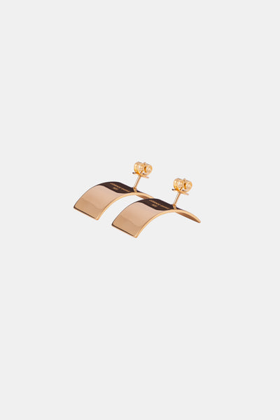 COVE L Earrings, yellow gold