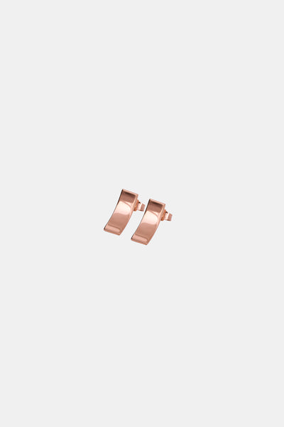 Rose gold plated minimalistic earrings made in Germany