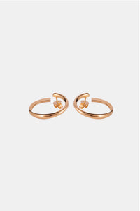 SWELL Earrings, yellow gold