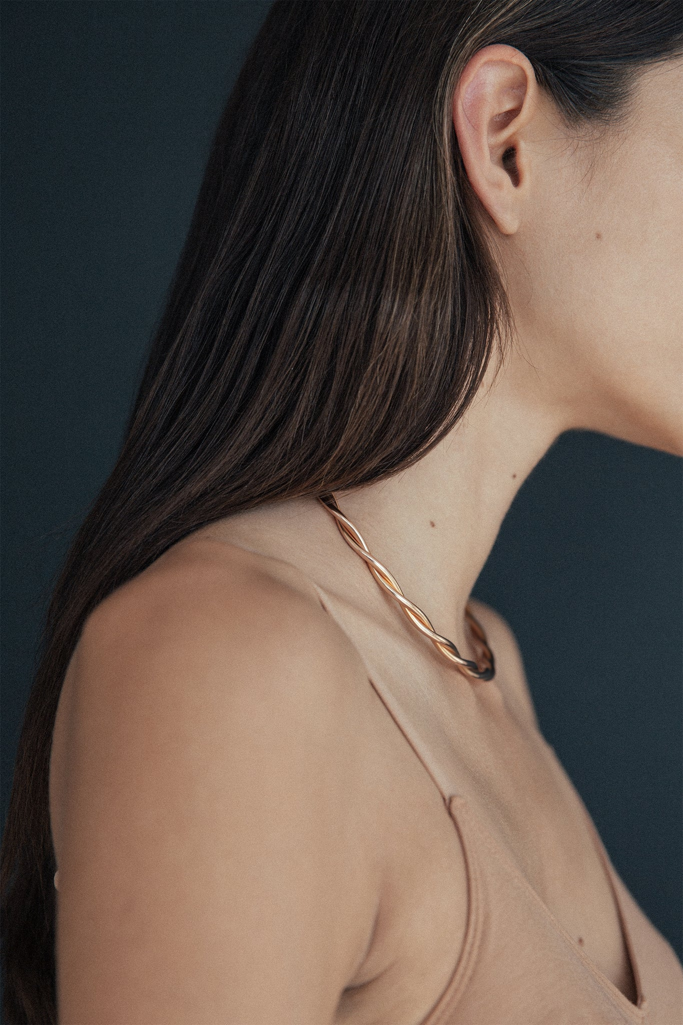 Sophisticated rose gold plated collier made in Germany