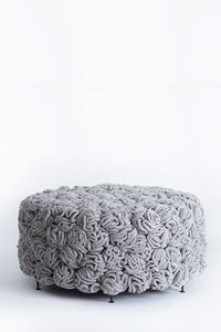 Grey Gold Large Elements Pouf