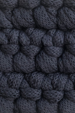 Dark Grey Bedside Rug - LAST ONE