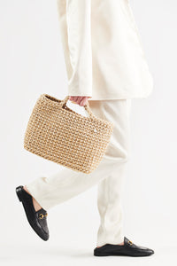 Crochet Kit Straw Basket Bag Do it Yourself