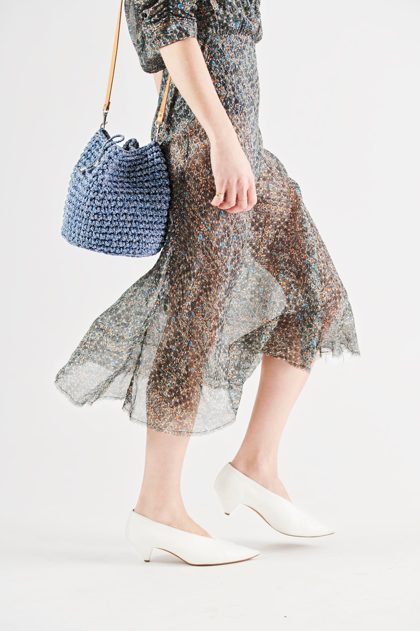 Crochet Kit Contemporary Jeans Color Bucket Bag DIY