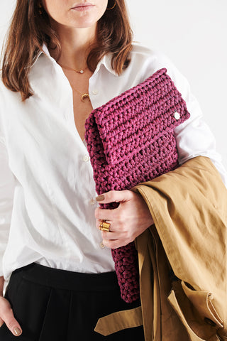 Crochet Kit Contemporary Wine Color Laptop Slip Cover Do it Yourself