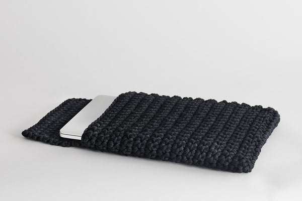 Crochet Kit Contemporary Black Laptop Slip Cover Do it Yourself