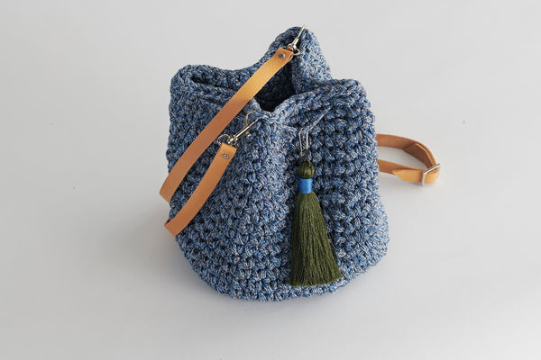 Handmade Blue Jeans Bucket Bag
