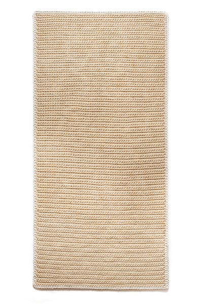 Straw Rug with Stone Border 120X250