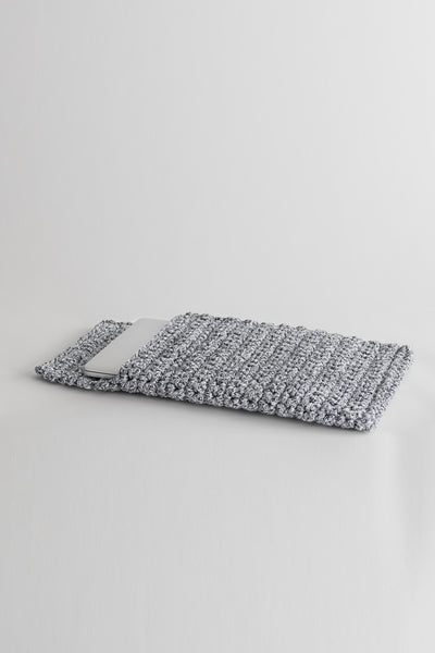Crochet Kit Contemporary Black and White Laptop Slip Cover Do it Yourself