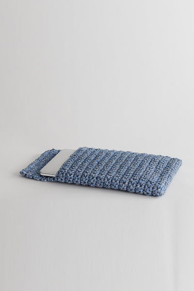 Crochet Kit Contemporary Blue Laptop Slip Cover Do it Yourself