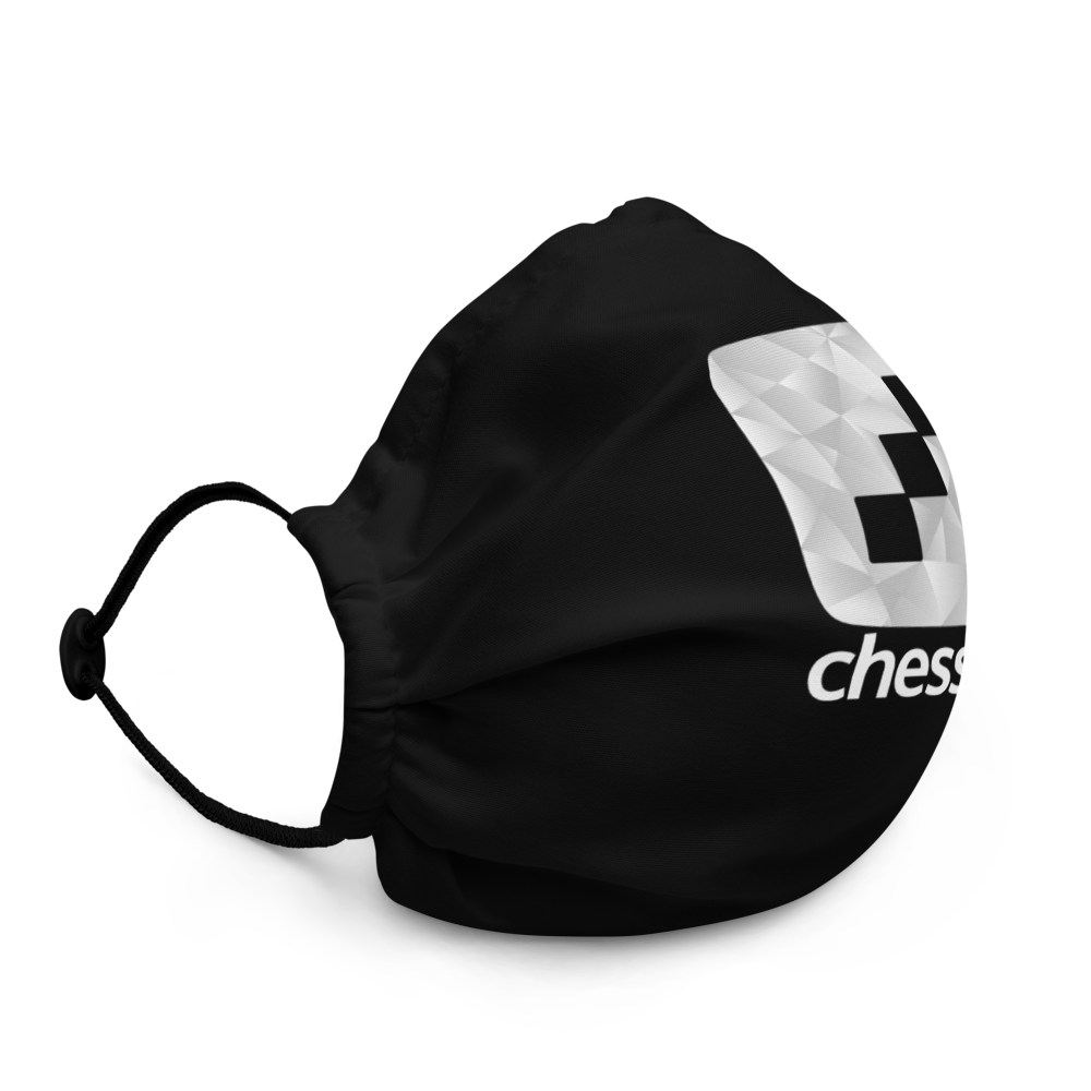 chess24 Black Face Mask - chess24