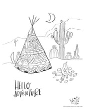 Load image into Gallery viewer, Digital Download // Hello Hope Coloring Pages // VOL. 3 // Fauna + Adventure