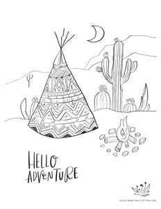 Digital Download // Hello Hope Coloring Pages // VOL. 3 // Fauna + Adventure