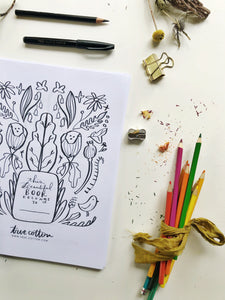 Digital Download // Hello Hope Coloring Pages // VOL. 4 // Write It Out