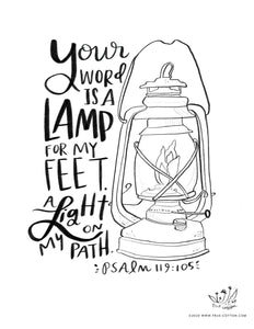 True cotton lamp unto my feet