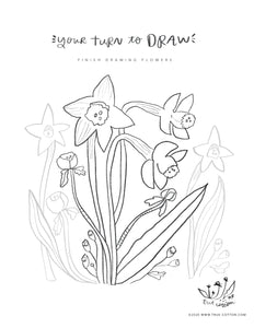 Digital Download // Hello Hope Coloring Pages // VOL. 1 Flora