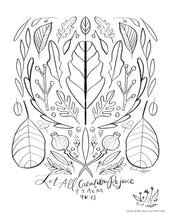 Load image into Gallery viewer, Digital Download // Hello Hope Coloring Pages // VOL. 1 Flora
