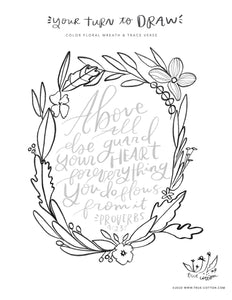True Cotton Hello Hope coloring Book