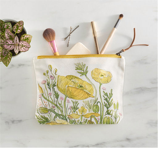 Large Floral Zipper Pouch