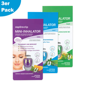 aspUraclip® Mini-Inhalator mix - aspUraclip - ätherische öle - aromatherapie - inhalator - einatmen