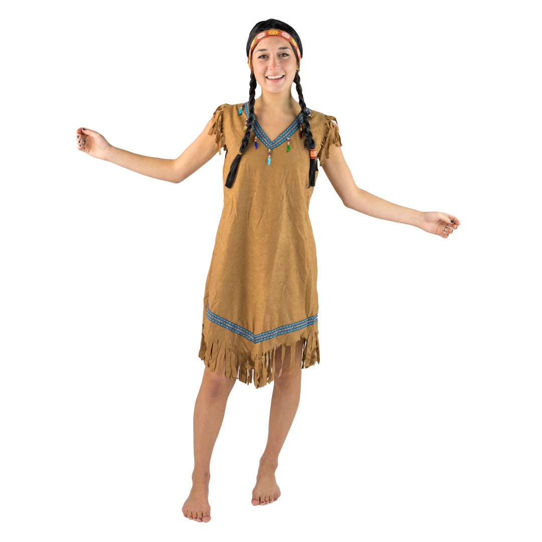 Women's Blue Native American Costume