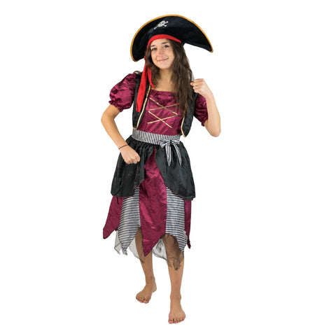 Women's Scruffy Pirate Costume