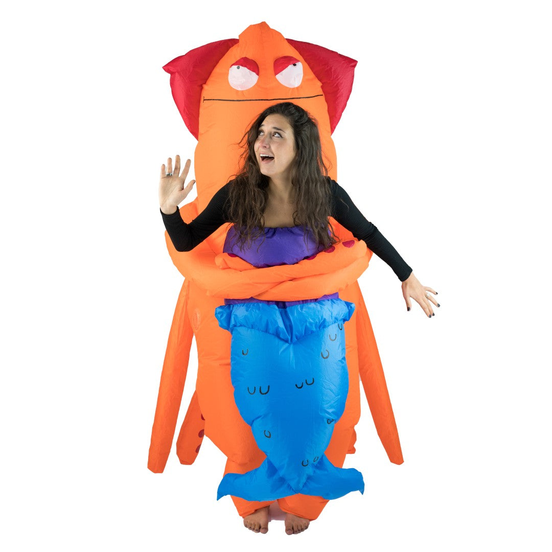 Inflatable Squid Monster Costume