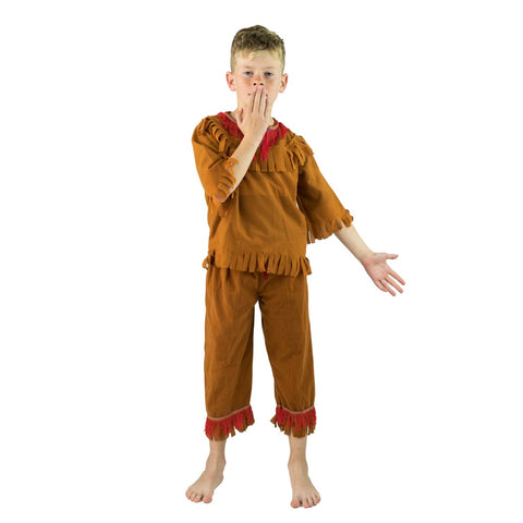 Kids Native American Fringed Costume