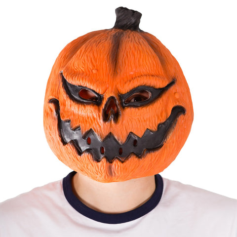Latex Pumpkin Mask